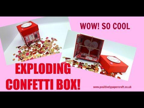 😲🤩Amazing EXPLODING Confetti Box TUTORIAL!🎁💥