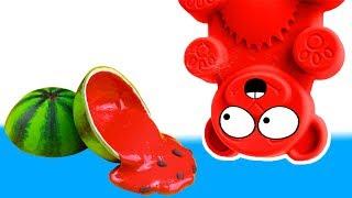 Wassermelonen Schleim selber machen mit Lucky Bär - DiY