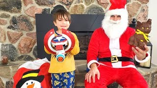 Santa Claus Surprise Zack with toys and Candy