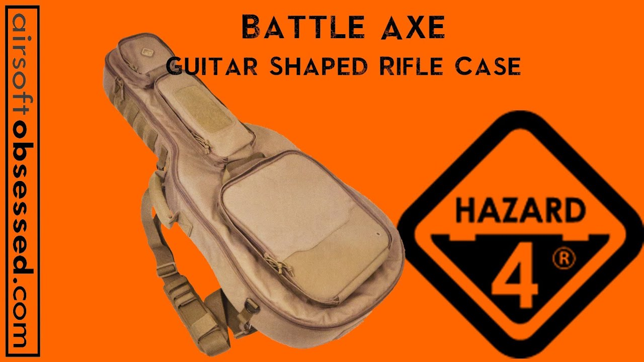 hazard 4 battle axe guitar shaped rifle bag airsoft obsessed shot show 2013 youtube. Black Bedroom Furniture Sets. Home Design Ideas