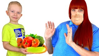 Martin teaches mom to eat healthy food and exercise