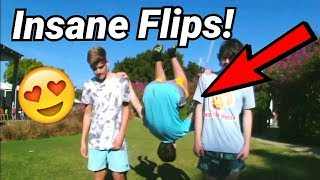 15 YEAR OLD DOES CRAZY GROUND FLIPS! **MUST WATCH**