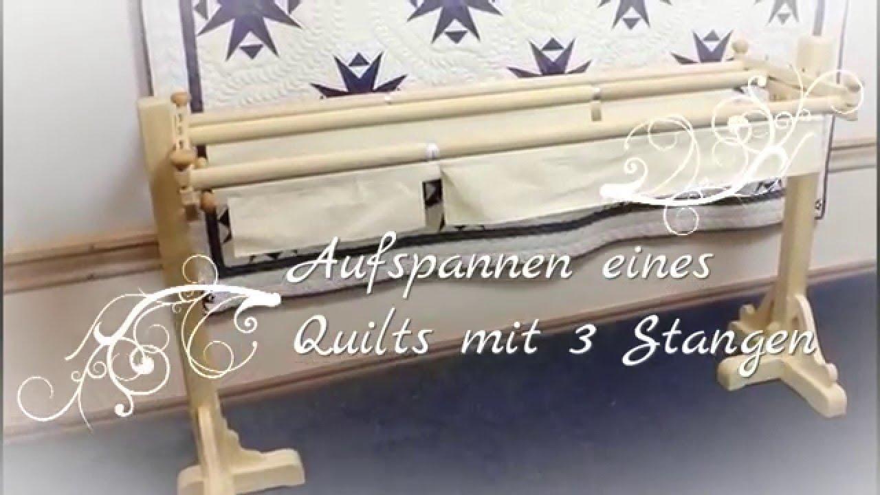 Quilt aufspannen 3-Stangen-System Jems - Esther Miller - YouTube