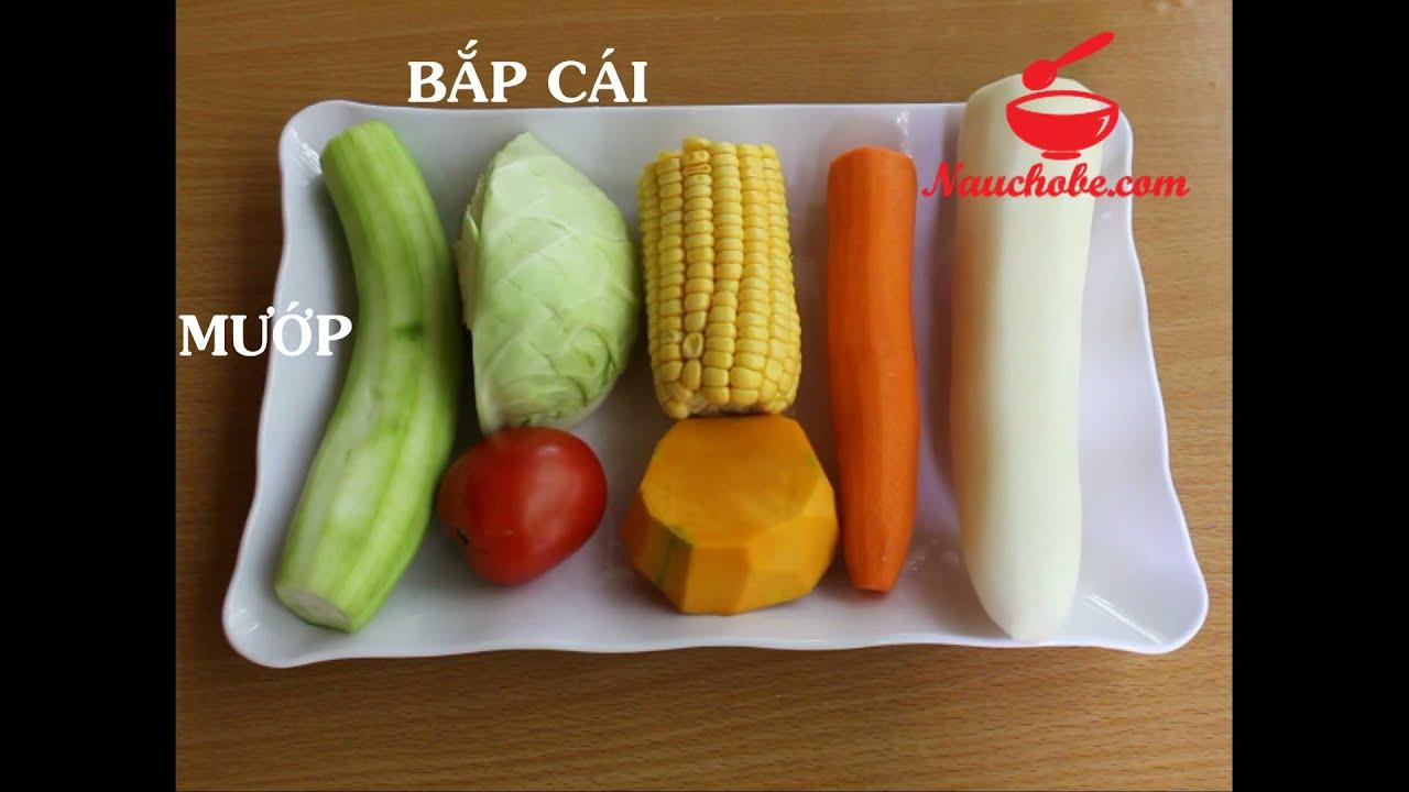 Nấu Cho Bé – Hướng dẫn làm nước dashi rau củ
