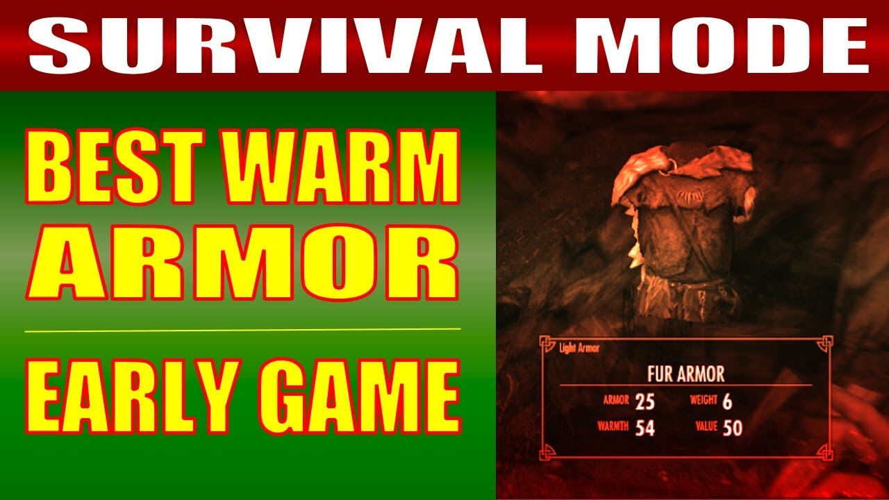 Skyrim survival mode gameplay how to get the best warm armor skyrim survival mode gameplay how to get the best warm armor clothing early game fandeluxe Image collections