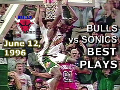 June 12 1996 Bulls vs Sonics game 4 highlights