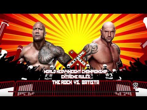WWE 2K15- Batista vs The Rock NO DQ Match for World Heavyweight Champion  2015 (PS4)