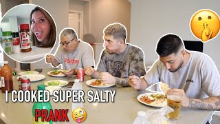 COOKING REALLY SALTY TO SEE HOW MY FAMILY REACTS