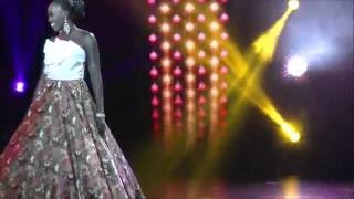 Peek A Boob You Better Watch This!! Miss South Sudan Controversial Evening Gown Preformance