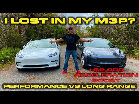 THIS IS LUDICROUS! * Tesla Model 3 Long Range with $2,000 Boost Upgrade vs Model 3 Performance