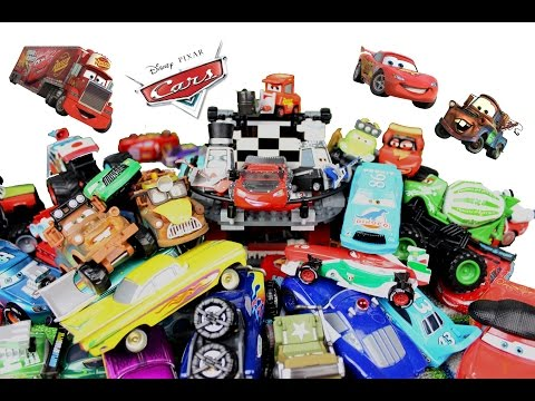 Disney Pixar Cars Determined Mcqueen, Mater, Chuck, Dinoco Chick Hicks By HitzhToys