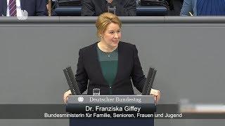 Dr. Franziska Giffey unterstützt Forderung für mehr Parität im Parlament