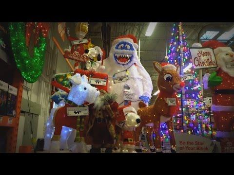 Home Depot Christmas Decorations Decor Youtube