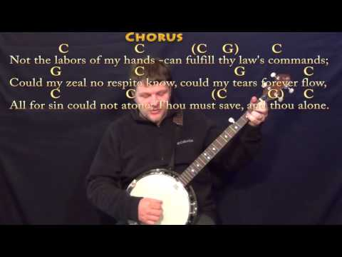 Rock of Ages - Banjo Cover Lesson in C with Chords/Lyrics