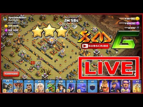 Clash of Clans⭐LIVE ATTACK 3-STAR TH11⭐MIX TWO BASES⭐P/2