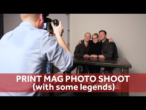 PRINT MAG photo shoot (with some legends) | Chase Jarvis RAW