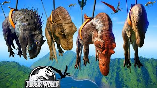 2 I-Rex Vs 2 T-Rex Vs 2 Spinosaurus Vs 2 Acro - Jurassic World Evolution Dinosaurs Fighting
