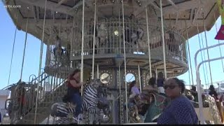 Double-decker Merry-go Round At The South Carolina State Fair