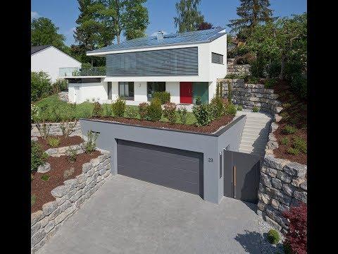 Minimalist Style Sloping House Design Idea