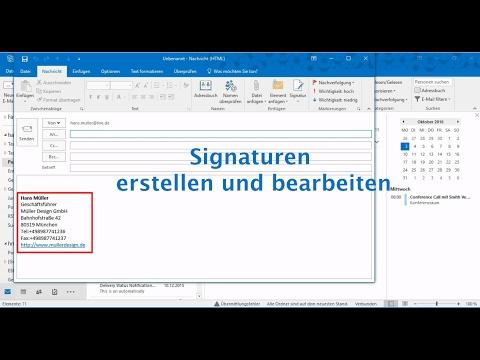 Outlook 2016: Signaturen Erstellen Und Bearbeiten