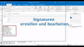Outlook 2016: Signaturen ęrstellen und bearbeiten
