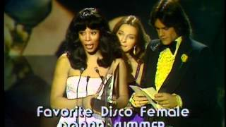 Donna Summer Wins Favorite Female Disco Artist - AMA 1979