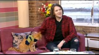 James Bowen and  Bob The Cat This Morning 2012