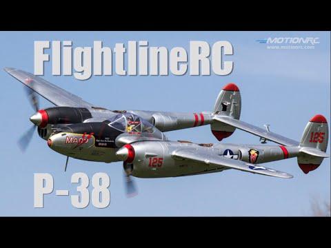 """FlightlineRC P-38 Lightning """"Pacific Silver"""" Flight Review ..."""