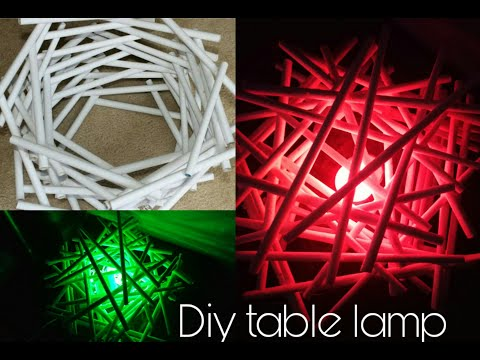 How To make Table Lamp\DIY With Newspaper\Newspaper Transformation\Easy Tutorial   Glorious Chandni