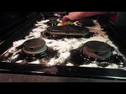 Image result for gas stove cleaning with baking soda
