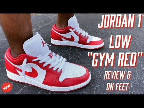 Air Jordan 1 Low Gym Red Review On Feet Youtube