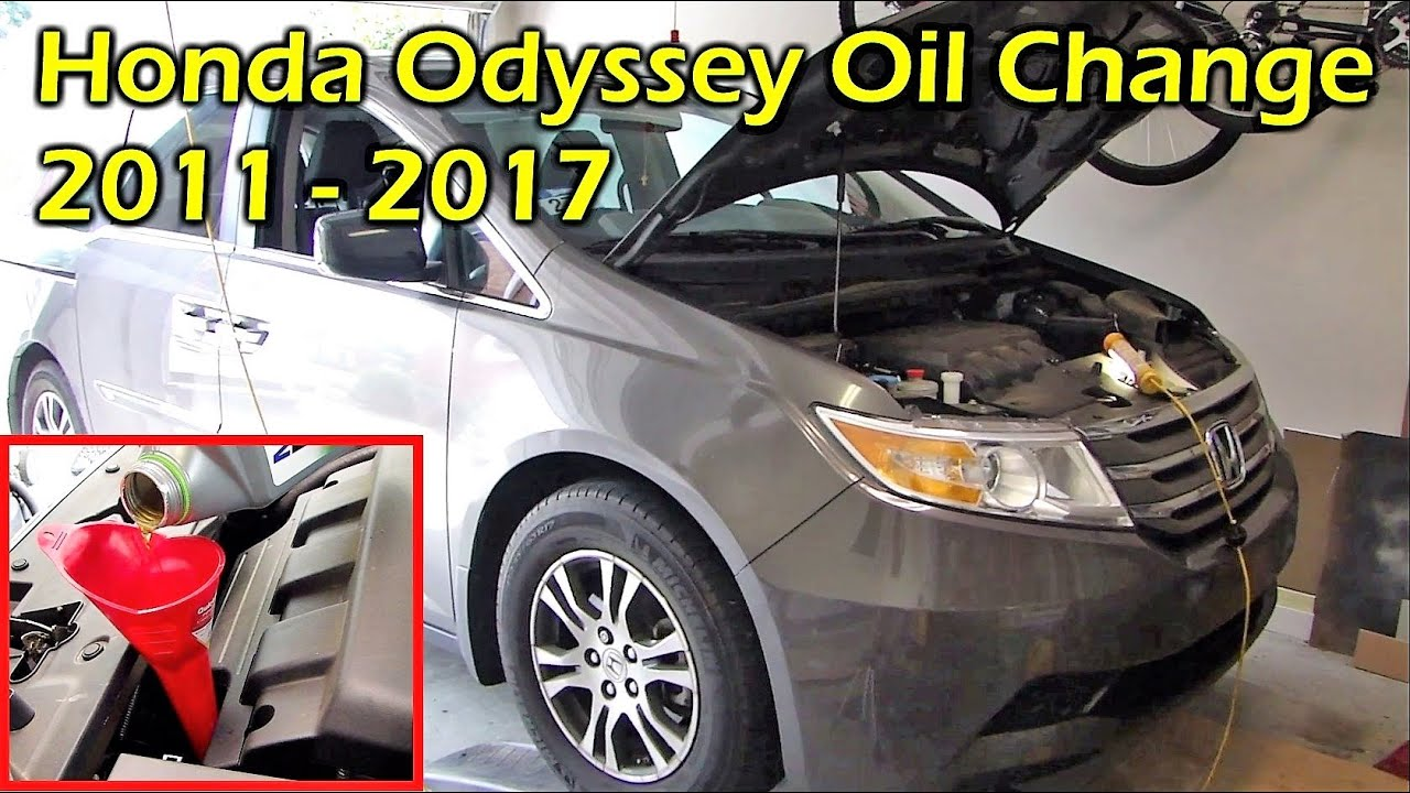 honda odyssey oil change 2011 2017 youtube. Black Bedroom Furniture Sets. Home Design Ideas