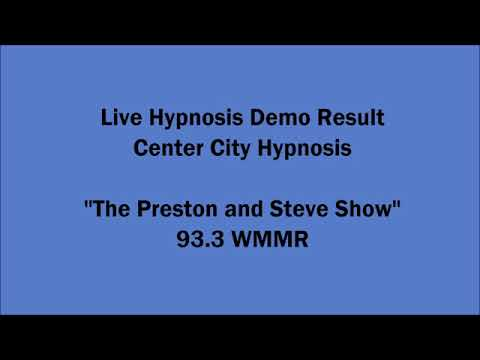 hypnosis Philadelphia radio demonstration result | centercityhypnosis
