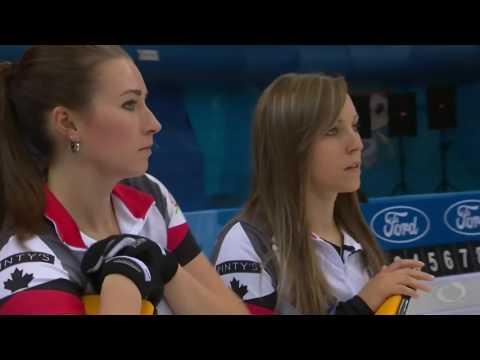 2017 World Womens Curling Championship - Italy (Gaspari) vs. Canada (Homan)