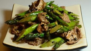 How to Stir Fry : Asparagus with Beef: Basic 101 recipe.