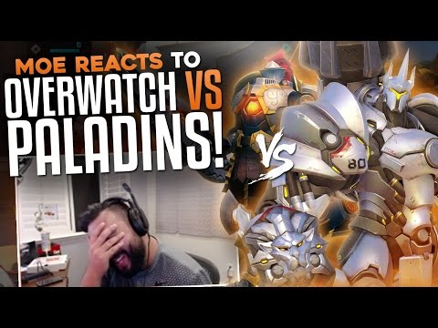 Thumbnail: Moe Reacts To Overwatch Vs Paladins!