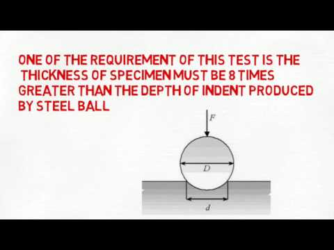 Brinell hardness test in Hindi - YouTube