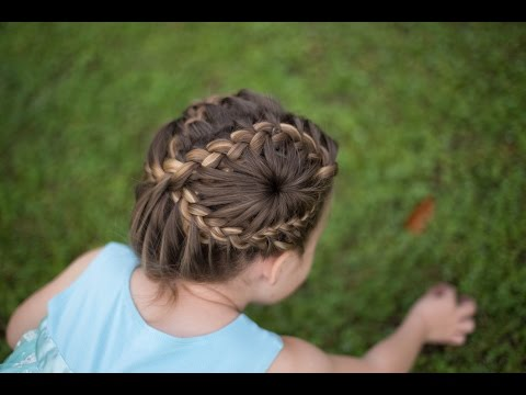 Figure 8 Braid Updo | Double Starburst | Cute Girls Hairstyles