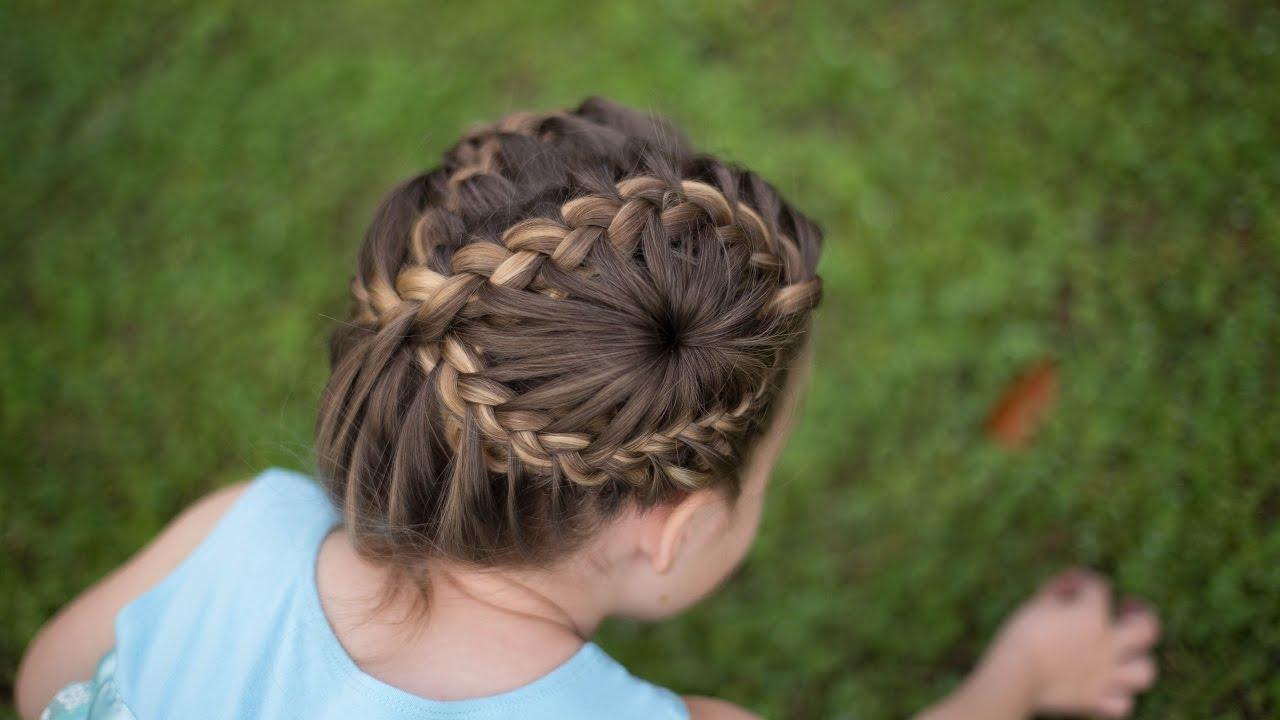 Figure 8 Braid Updo | Double Starburst | Cute Girls Hairstyles - YouTube