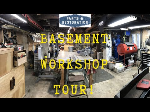 Basement Workshop Tour | Wood Shop Layout | Home Machine Shop Ideas | DIY | Maker Space Machinery