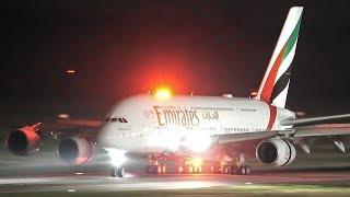 AIRBUS A380 Meeting + A380 NIGHT LANDING (4K)