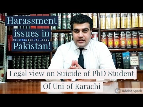Legal view: PhD student of University of Karachi commits Sui