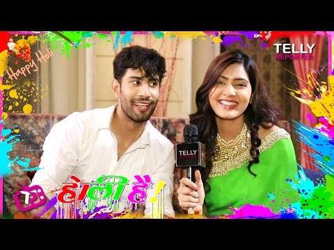 Happy Holi: Sangeita Chauhan & Sahil Uppal Celebrate Holi With Telly Reporter | Exclusive