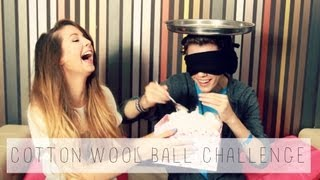 Cotton Wool Ball Challenge With Troye Sivan
