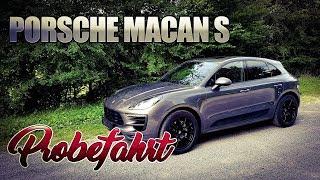 Porsche Macan S Probefahrt Test deutsch | Fahrbericht Porsche Macan S 3 0 V6 340 PS
