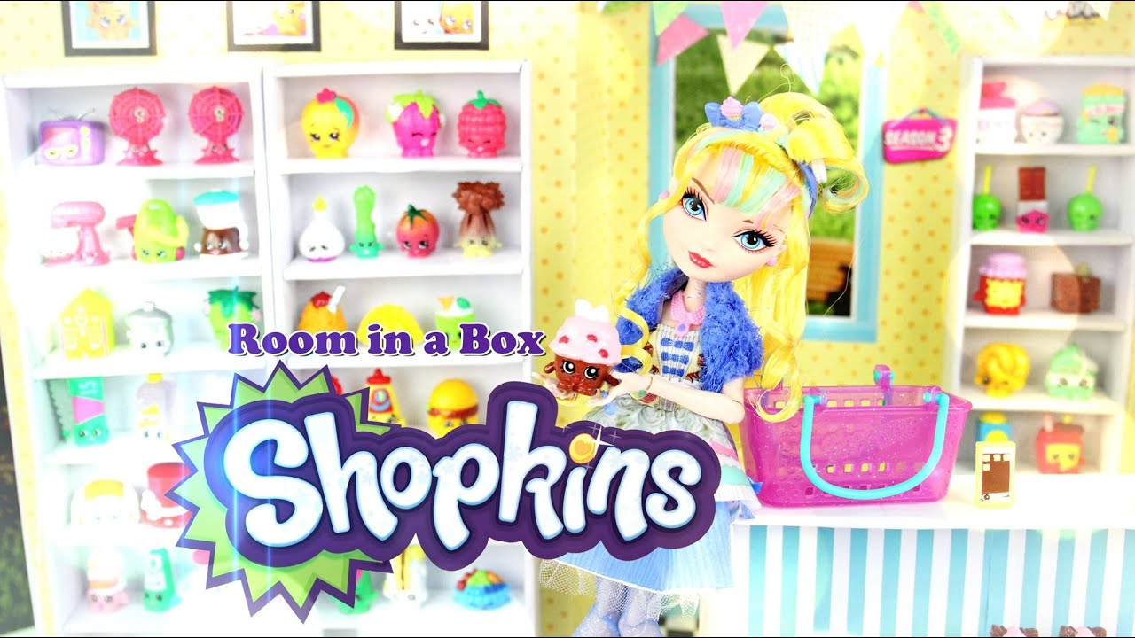 DIY   How To Make: Doll Room In A Box: Shopkins   Handmade   Crafts    YouTube Part 62