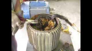 Извлечение обмотки статора(Ремонт электродвигателей в Москве - компания ООО