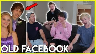 REACTING TO MY OLD FACEBOOK WITH MY ROOMMATES