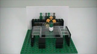 Tutorial- Lego Modern Dining Table And China Cabinet
