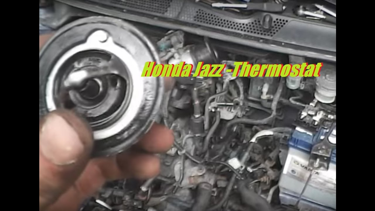 Honda Jazz [ Fit ] Thermostat Location And Replacement 14 IDSI Engine Over Heat Fix  YouTube